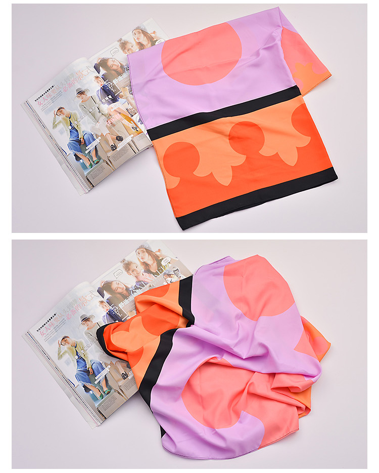 个性图案丝巾