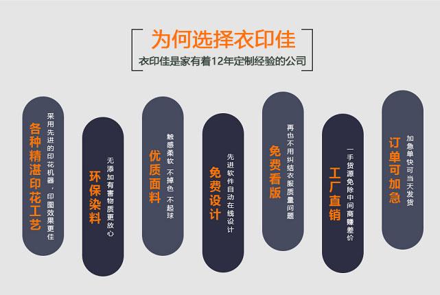 北京周邊哪有T恤衫定做比較好的廠家?【衣印佳】